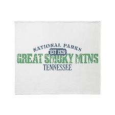 Great Smoky Mountains Nat Par Throw Blanket