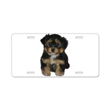 Cute Yorkie poo Aluminum License Plate