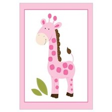 Cute Pink Giraffe Wall Art