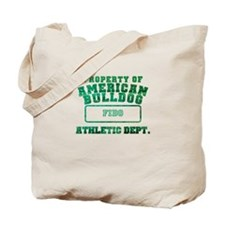 Personalized American Bulldog Tote Bag
