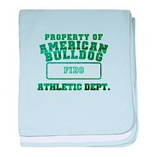 Personalized American Bulldog baby blanket