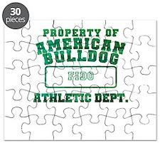 Personalized American Bulldog Puzzle