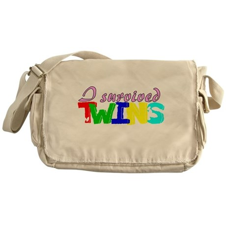 I survived twins Messenger Bag
