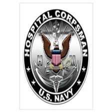 USN Hospital Corpsman Eagle H Wall Art