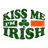 Kiss Me Im Irish Wall Art