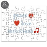 Peace, Love and Musicians Puzzle