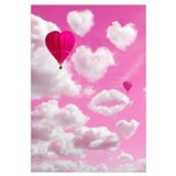 Heart Clouds and Balloon Wall Art