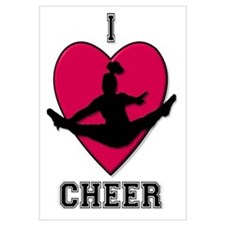 I Love Cheer Wall Art