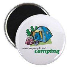 Never Too Young to Start Camping Magnet