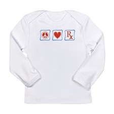 Peace, Love and Pharmacists Long Sleeve Infant T-S