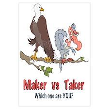 Maker vs Taker Wall Art