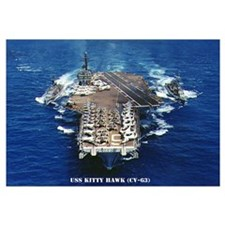 USS KITTY HAWK Wall Art