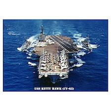 USS KITTY HAWK Wall Art