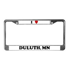 I Love Duluth License Plate Frame