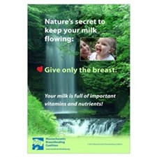 English- Nature's secret: Give only the breast