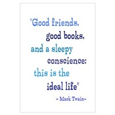 Good Friends Good Books Wall Art