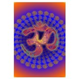 Om Mandala Sacred Color Field Portal Poster