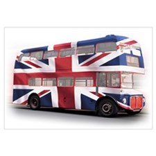 London Bus with Union Jack an Wall Art