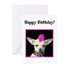 Happy Birthday Chihuahua Greeting Cards (Pk of 20)