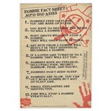 Zombie Fact Sheet Wall Art