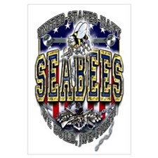 USN Navy Seabees Anchor Shiel Wall Art