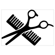 Comb & Scissors Wall Art