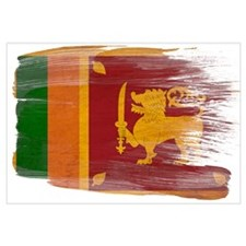 Sri Lanka Flag Wall Art