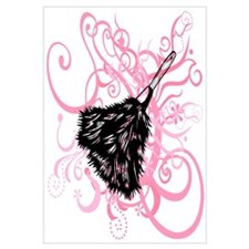 Feather duster, pink swirls. Wall Art