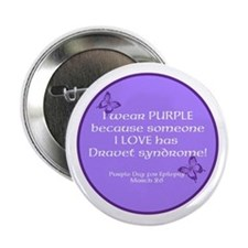 "Dravet Purple Day Single 2.25"" Button"