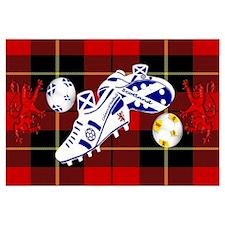 Scottish white football boots Wall Art