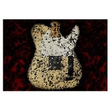 Guitar Mosaic Artwork Wall Art