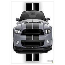 New Mustang GT Gray Wall Art