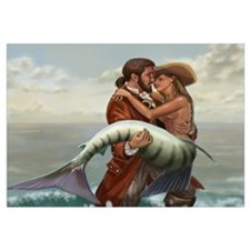 Pirate and Mermaid Wall Art