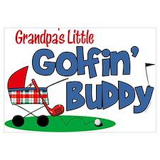Grandpa's Little Golfin' Buddy Wall Art