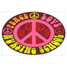 Peace, Love, Nursing School Wall Art