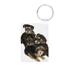 Adorable Yorkiepoo Puppies Keychains