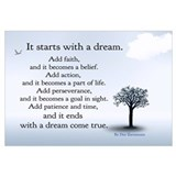 It Starts With a Dream Poster