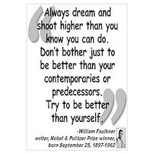 Faulkner Better Quote Wall Art