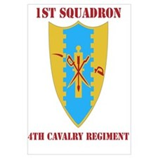 DUI - 1st Sqdrn - 4th Cavalry Regt with Text Mini