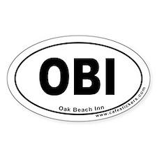 Oak Beach Inn Oval Decal