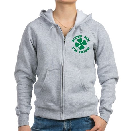 Kiss Me I'm Irish Women's Zip Hoodie