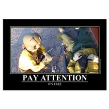 Pay Attention. Wall Art