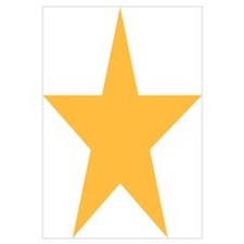 Five Pointed Yellow Star Wall Art