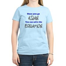 Once You Go Asian Equation T-Shirt