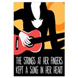 Heart Strings Guitar Poster