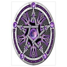 Pentacle of the Purple Moon Wall Art
