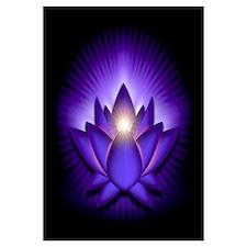 "Purple ""Third Eye"" Chakra Lotus Wall Art"