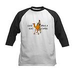 Save Gas Ride A Camel Funny Kids Baseball Jersey