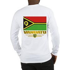 """Vanuatu Flag"" Long Sleeve T-Shirt"