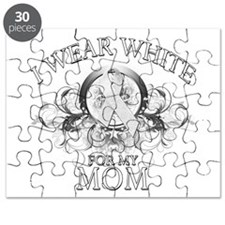 I Wear White for my Mom (flor Puzzle
